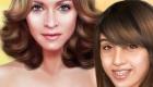 Jeu de maquillage avec Madonna