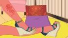 Jeu de chaussures à la mode