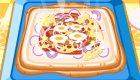 Prépare une pizza carrée