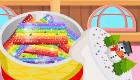 Cuisiner un gâteau arc-en-ciel