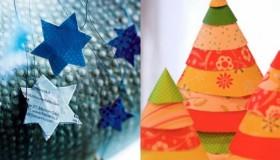 Décorations et sapin de Noël en papier