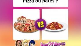 Quel plat aimes-tu le plus: Pâtes ou Pizza?