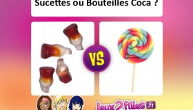 Combat de bonbons en folie: Sucette ou bouteilles de Coca?