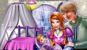 Chambre du bébé d'Anna et Kristoff