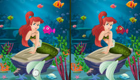 Jeu de différences avec La Petite Sirène