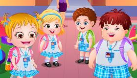 Bébé Hazel à l'école