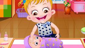 Bébé Hazel et un nourisson