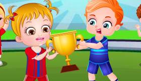 Bébé Hazel la sportive