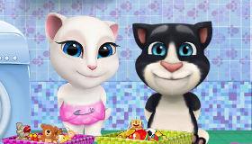 La lessive de Bébé Tom et Angela