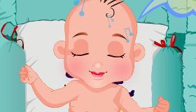 Change la couche de bébé