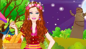 Habiller Barbie en Petit Chaperon Rouge