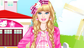 Habiller Barbie en Hello Kitty