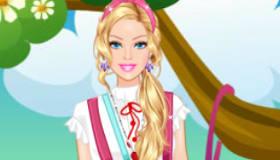 Habillage de Barbie en écolière