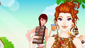 Barbie dans le monde du chocolat