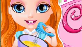 Bébé Barbie cuisine