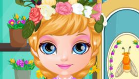 Coiffure estivale de Bébé Barbie