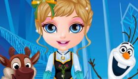 Bébé Barbie en Reine des Neiges