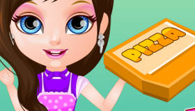 Bébé Barbie Chef pizza