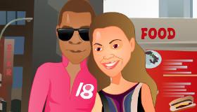 Jeu de bisous avec Beyoncé et Jay-Z