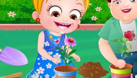 Bébé Hazel au parc