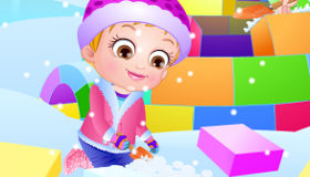 Bébé Hazel à la neige