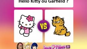 Quel est le meilleur chat: Hello Kitty ou Garfield?