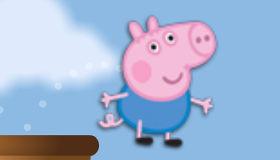 George Pig dans les airs