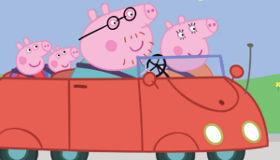 Peppa Pig en voiture