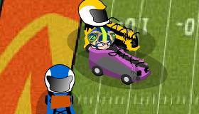 Football américain en voiture