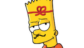 Simpson à colorier