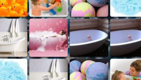 Jeu de bain d'enfants