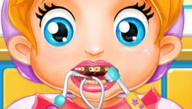 Bébé Lizzie chez le dentiste