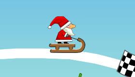 Jeu de glisse avec le Père Noël
