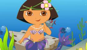Transformez Dora en sirène