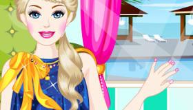 Nail art pour barbie