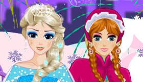 Anna et Elsa de La Reine des Neiges