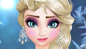 Le leçon de maquillage d'Elsa
