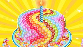Un gâteau aux bonbons