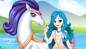 Habiller la princesse et la licorne