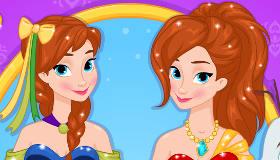 Habille Anna  la Reine des Neiges