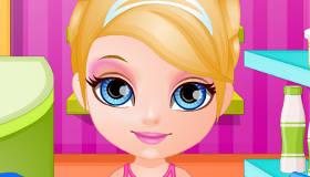 Cuisine avec bébé Barbie