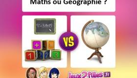 La meilleure matière à l'école: Maths ou Géographie?