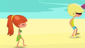 Jeu de drague à la plage