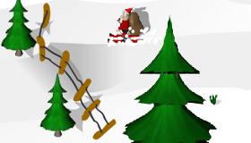 Les super skis du Père Noël