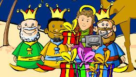 Photo avec les trois Rois mages