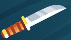 Le lancer de couteaux des ninja