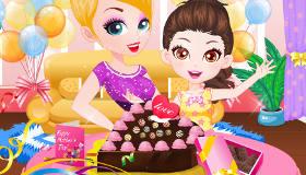 Gâteau au chocolat mère-fille