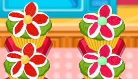 Jolis cupcakes fleuris