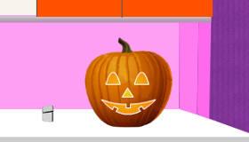 Creuser une citrouille d'Halloween