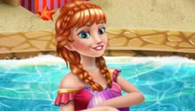 Anna à la piscine